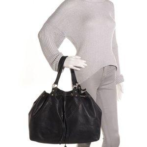 YSL Sac Double Reversible Leather Tote Bag Handbag
